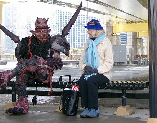 new-york-bus-station-satan-costume