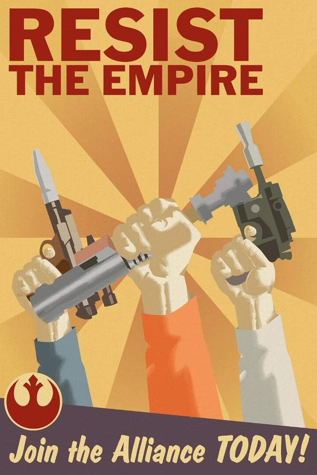 Resist The Empire Rebel Art Poster