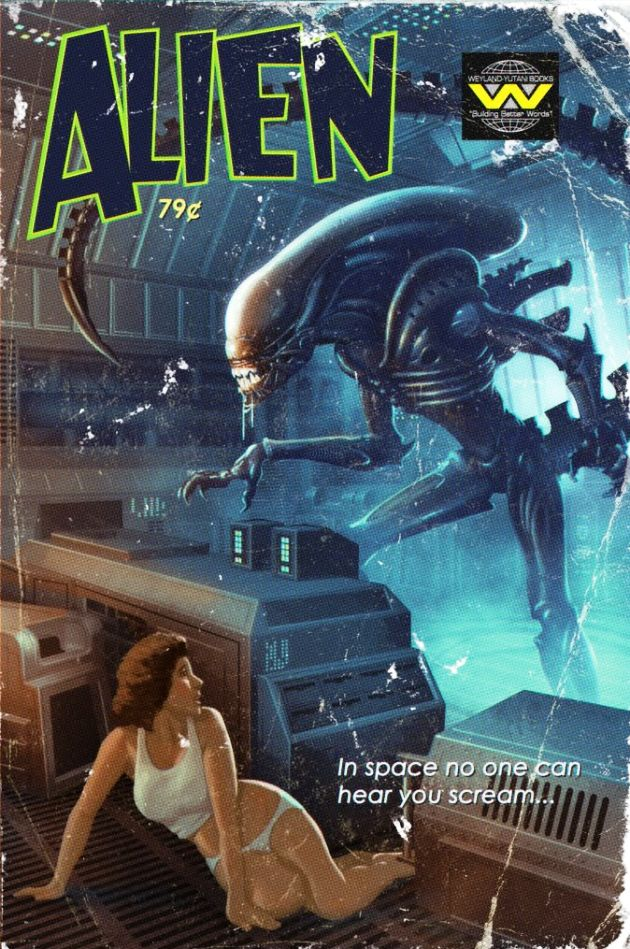 Aliens Pulp Comic