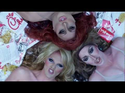 Drag Queens Chow Down On Chick-Fil-A