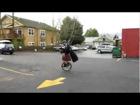Darth Vader Plays The Bagpipes On A Unicycle