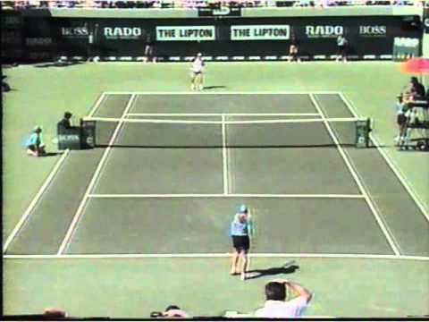 Video thumbnail for youtube video A Ball Girl Gets To Play Andre Agassi