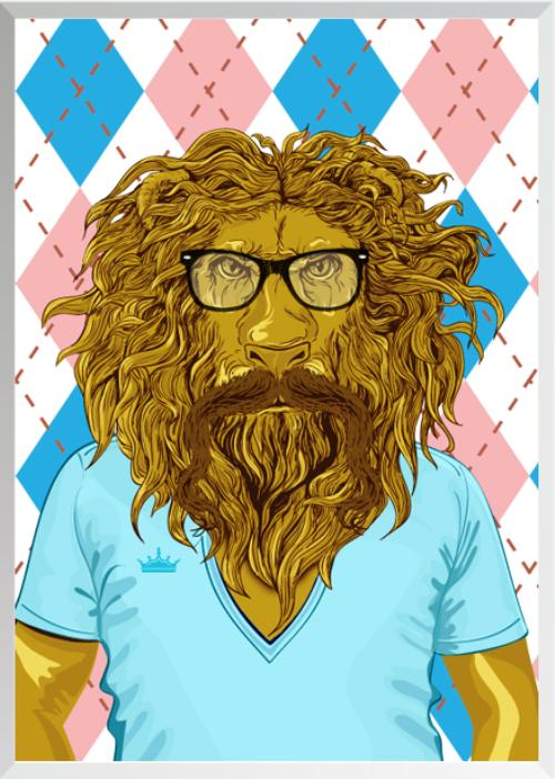 Wizard of Oz Characters as Hipsters Lion