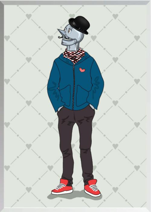 Wizard of Oz Characters as Hipsters Tinman