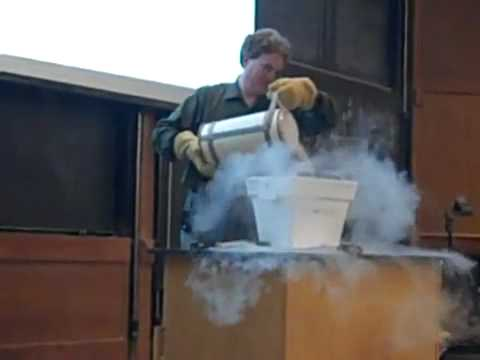 Angry Professor Destroys Computer With Liquid Nitrogen