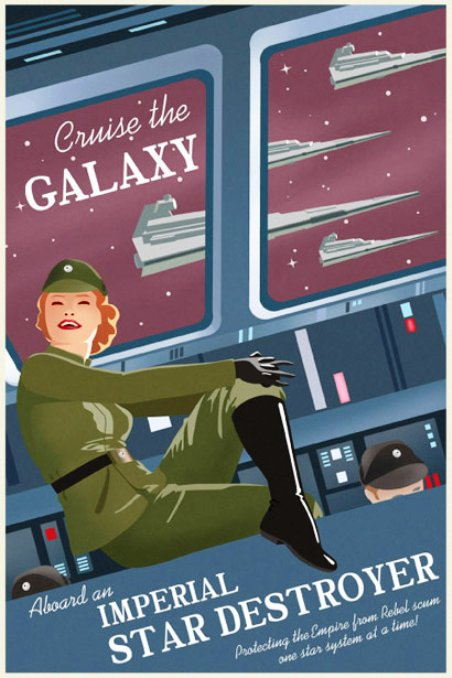 Star Wars Travel Posters Cruise Galaxy