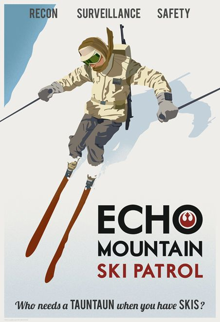 Star Wars Travel Posters Echo Mountain