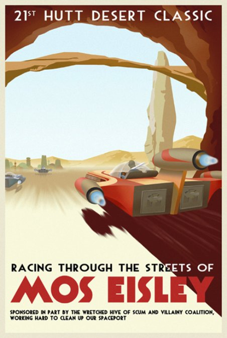 Star Wars Travel Posters Hutt Desert Classic