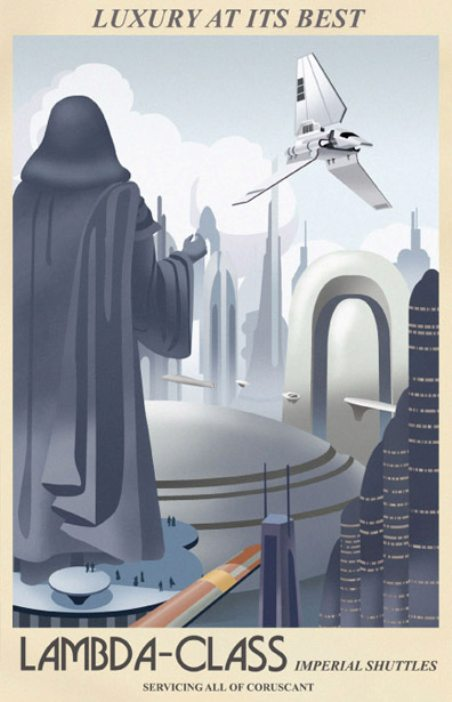 Star Wars Travel Posters Imperial Shuttles