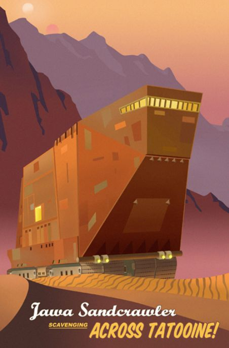 Star Wars Travel Posters Sandcrawler