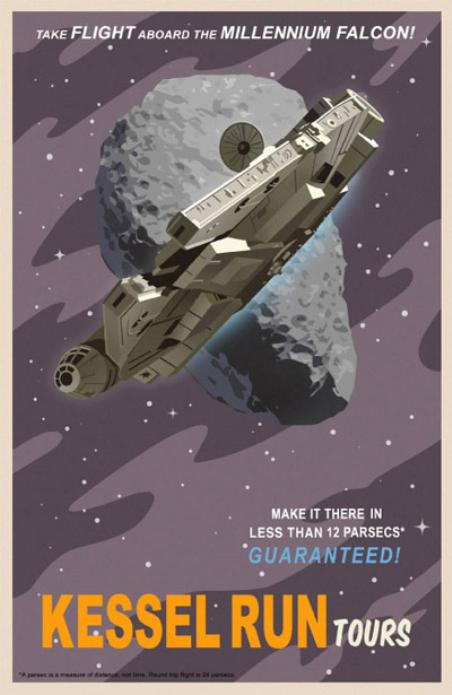 Star Wars Travel Posters Millennium Falcon