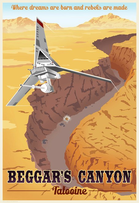 Star Wars Travel Posters Tatooine