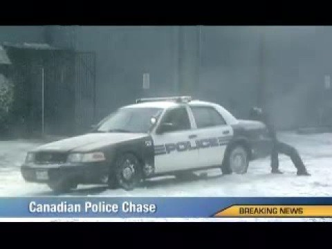 A Frenzied Police Chase In Canada