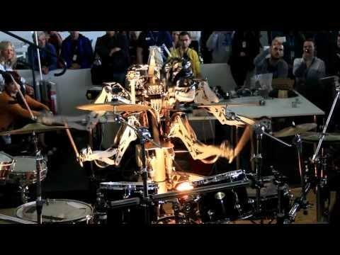 Video thumbnail for youtube video A Robot Covers The Ramones On Drums