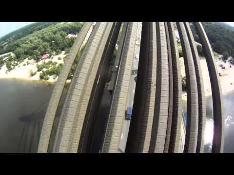 Climbing A Bridge In Kiev