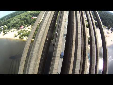 Climbing A Bridge In Kiev
