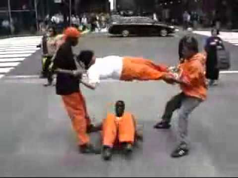Inmates Playing Human Jump Rope