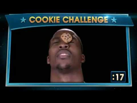 Dwight Howard Eats A Cookie Off His Head With No Hands