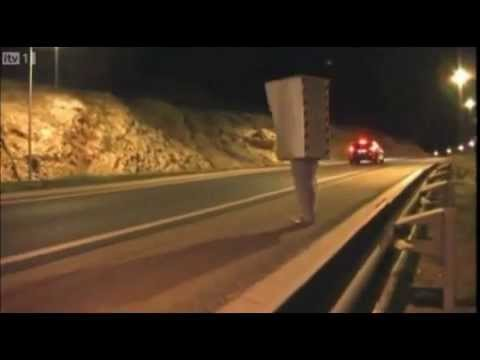 Man Dressed As Speed Camera Scares People
