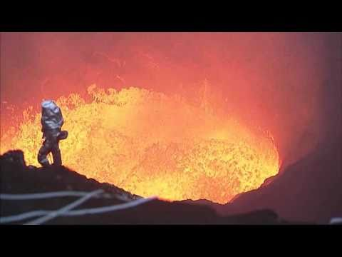 Incredible Footage From Inside A Volcano