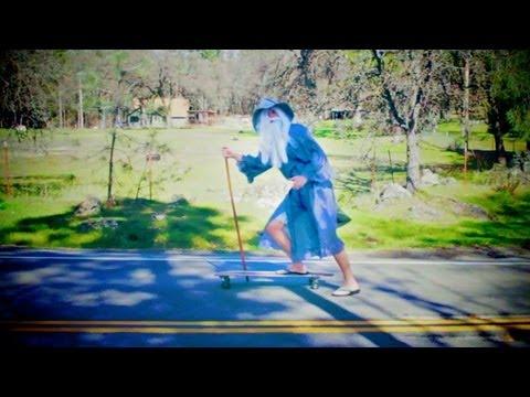 Gandalf On A Longboard