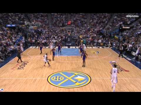 A Stalker Makes It To The Court During A Lakers/Nuggets Game