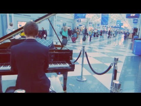 Video thumbnail for youtube video Airport Pianist Plays Viral Internet Hits