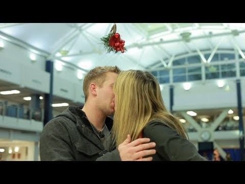 Video thumbnail for youtube video Uncomfortable Mistletoe Experiment For BYU Students