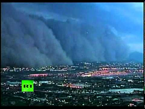 Incredible High Speed Dust Storm