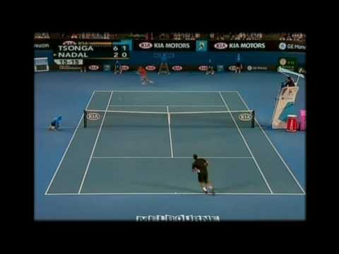 Jo-Wilfried Tsonga's Amazing Volley Show