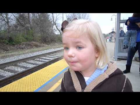 3 Year Old Loves The Train