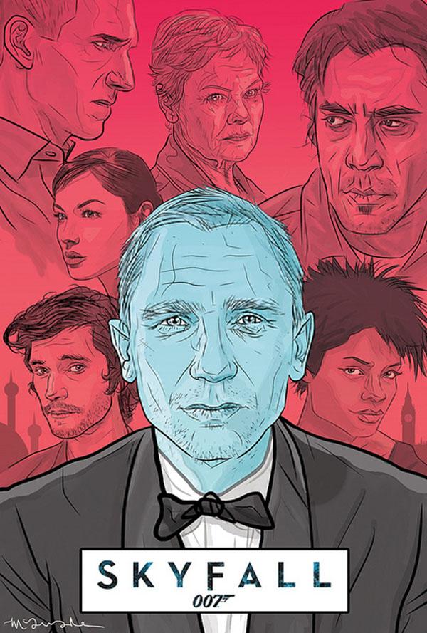 Amazing James Bond Movie Poster Art Skyfall