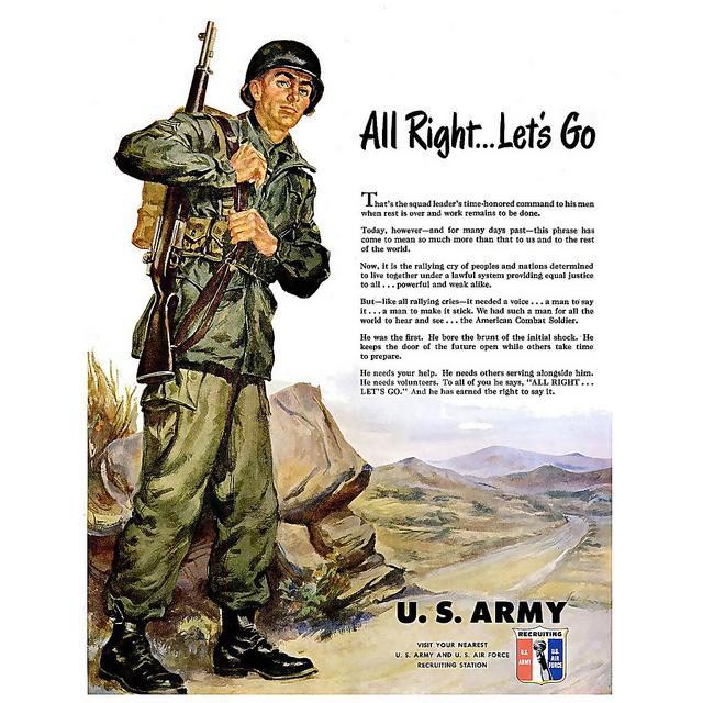 us-army-recruitment-posters-propaganda-lets-go