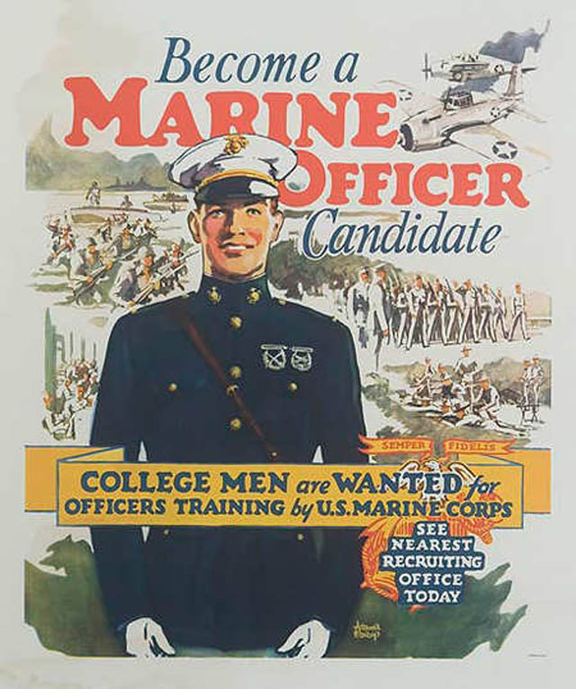 30 incredible vintage u s marines recruiting posters - Becoming a marine officer ...