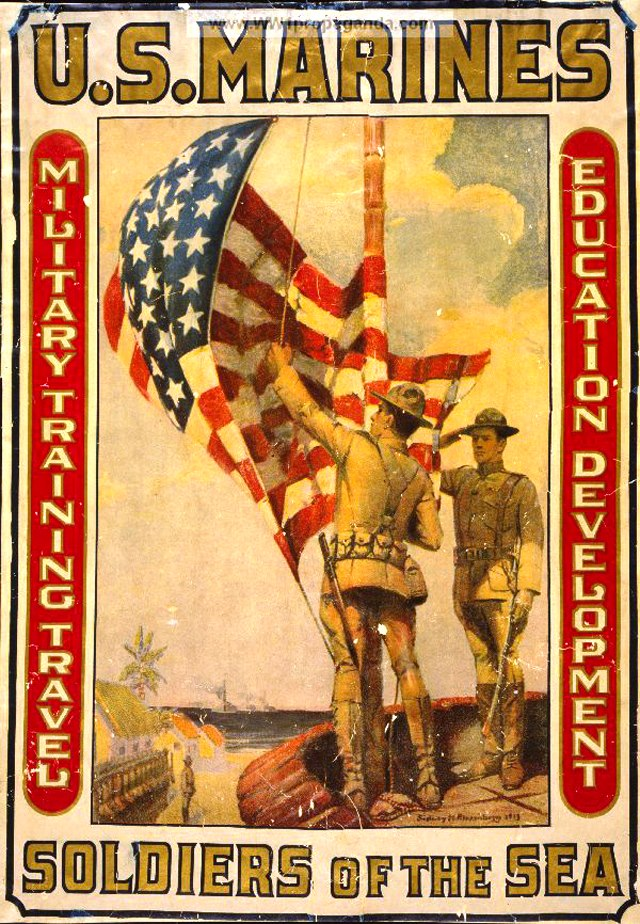 Vintage U.S. Marines Recruiting Posters Soldiers Of The Sea