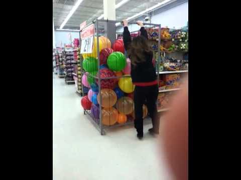 Girl Falls Into A Ball Pit At Walmart