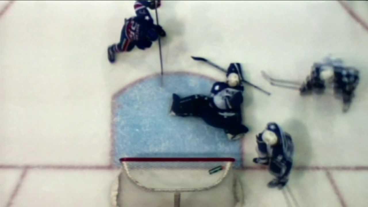 Amazing Behind The Back Hockey Save