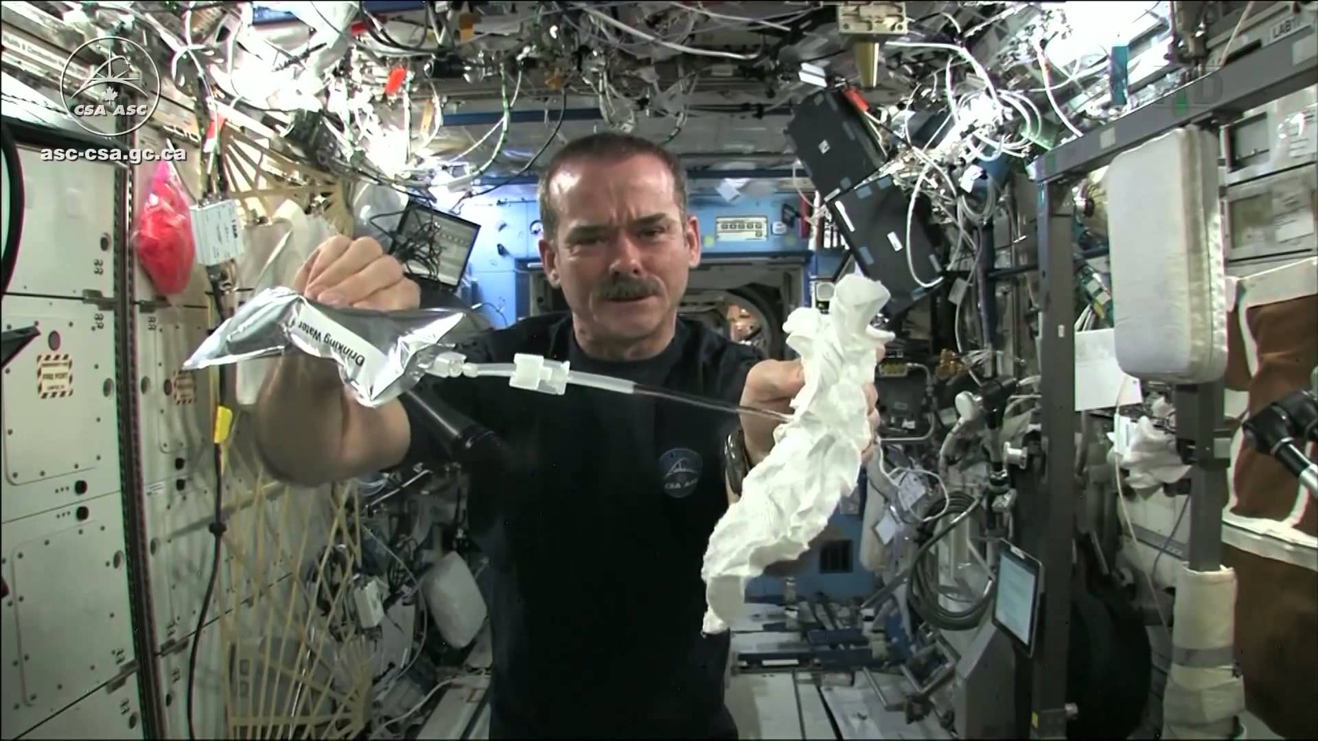 What Happens When You Wring A Washcloth In Space?