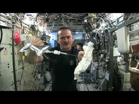 Video thumbnail for youtube video What Happens When You Wring A Washcloth In Space?