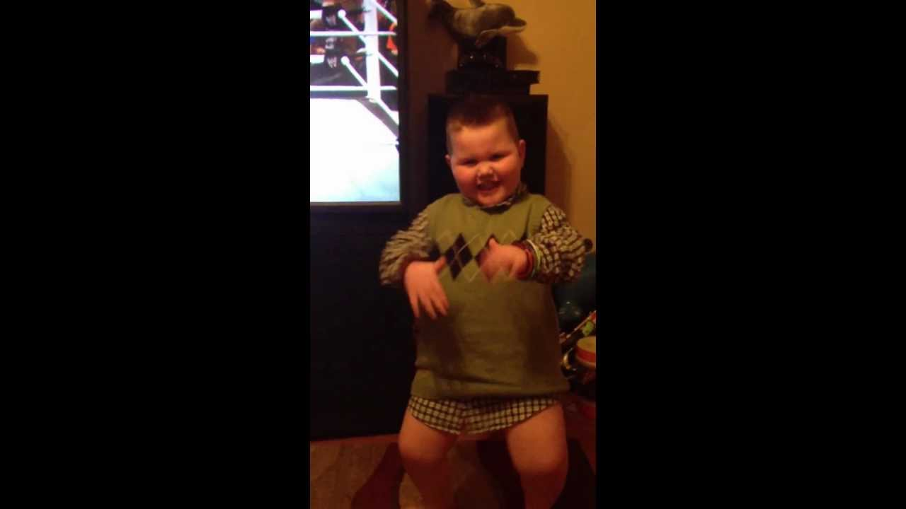 5 Year Old Does The Wobble