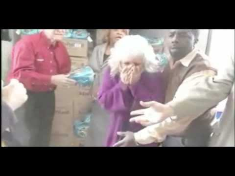 Paula Deen Gets Hit In The Face With A Frozen Ham