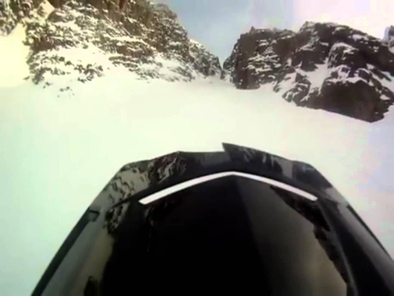 Ridiculous Snowmobile Fail