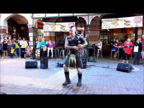 Video thumbnail for youtube video Thunderstruck, Covered On Bagpipes