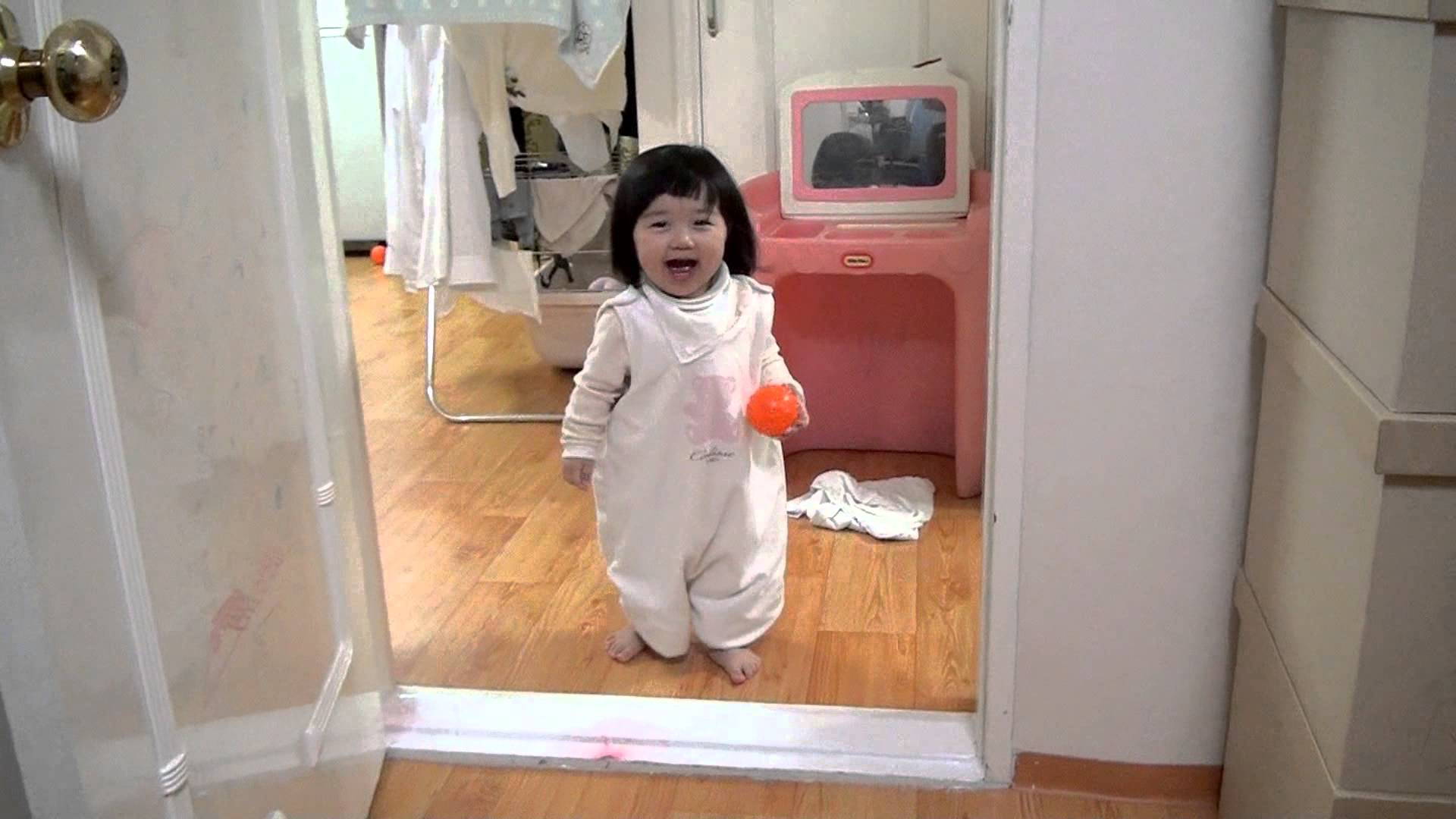 Adorable Baby Stands Up To Pranking Father