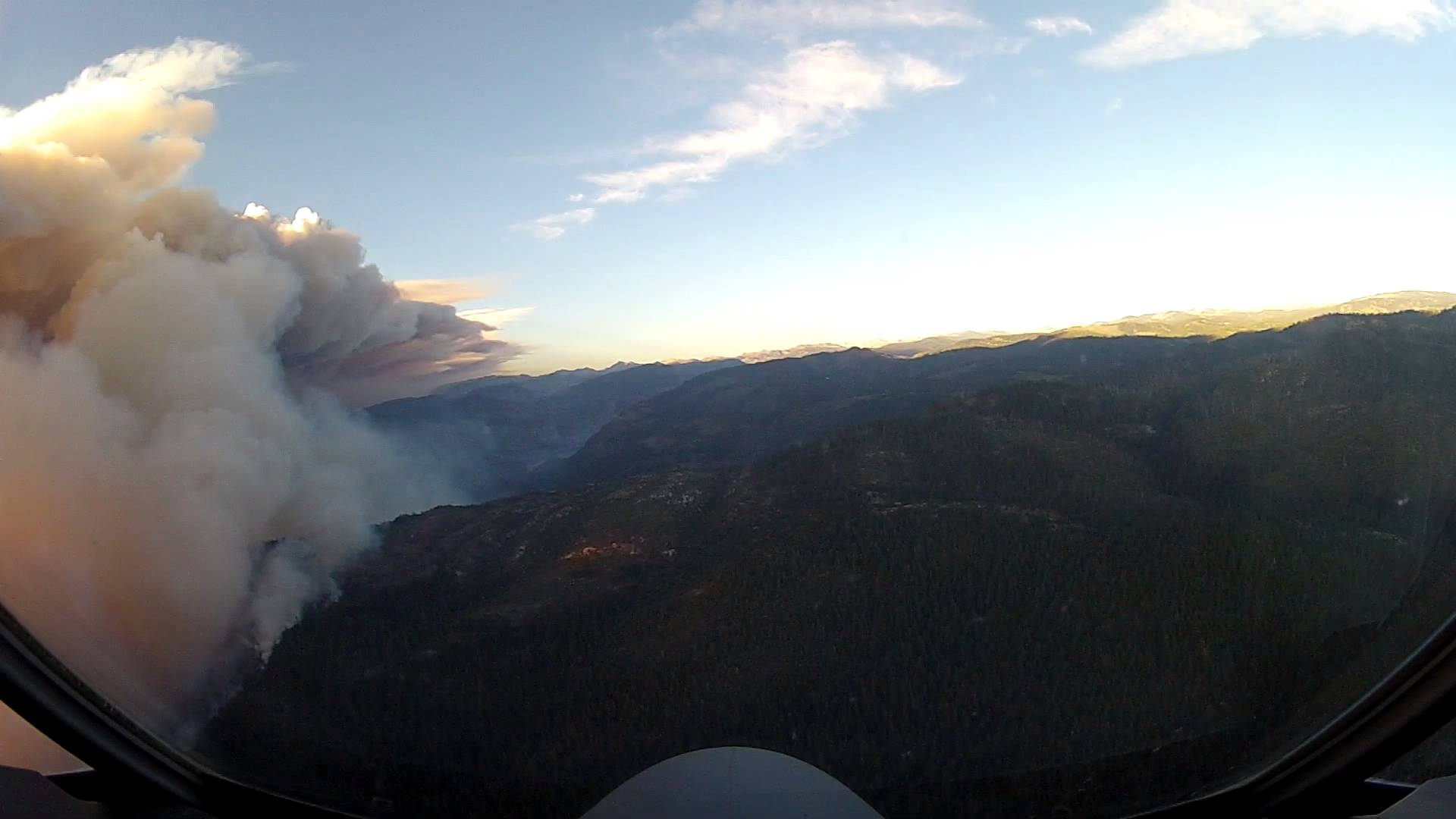 An Amazing Overhead View Of The Yosemite Fires