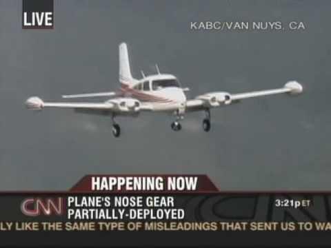 Pilot Makes Amazing Landing With No Nose Landing Gear