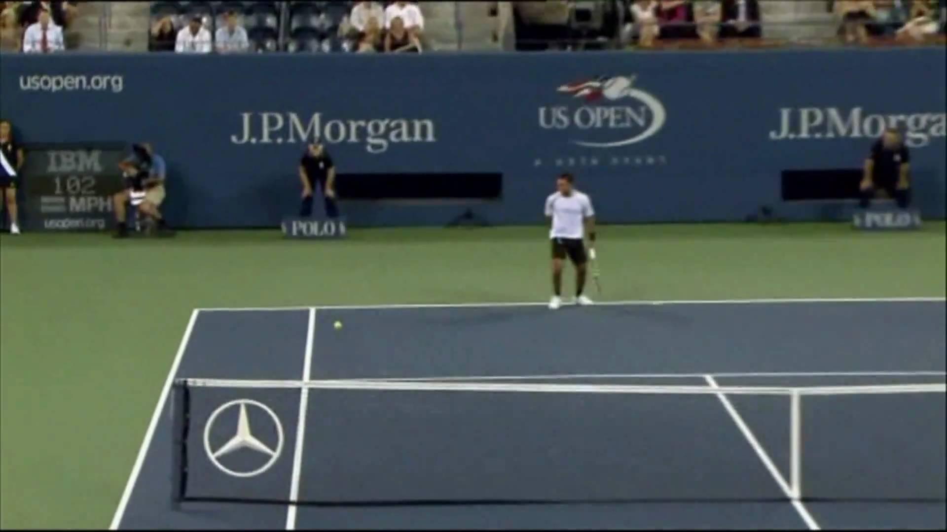 Roger Federer's Amazing Between-The-Legs Winner