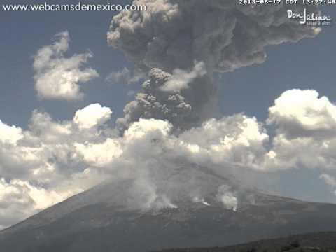 The Amazing Explosion Of Popocatépetl Volcano
