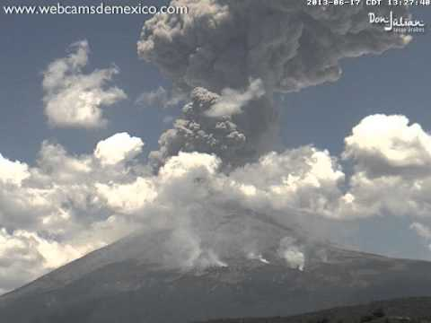 Video thumbnail for youtube video The Amazing Explosion Of Popocatépetl Volcano