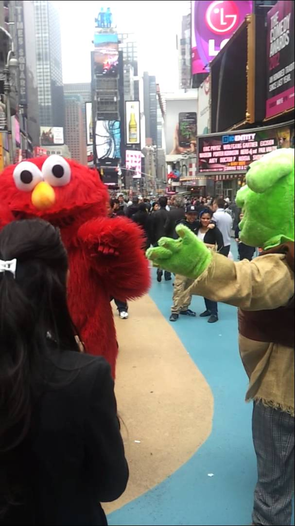 Racist Elmo Takes Over Times Square